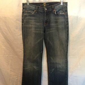7 For All Mankind Distressed Wash Boot Cut Jean
